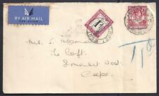 N.RHODESIA,  KGV1, 1940  COVER TO S.AFRICA, POSTAGE DUE ADDED, CACHETS.