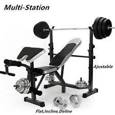 Mliti-Station Weight Ajustable Bench Press Home Gym Exercise Fitness Equipment