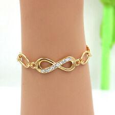 1XMode Damen Kristall Armreifen Freundschaft Armband Armbänder Gold Plated Neu