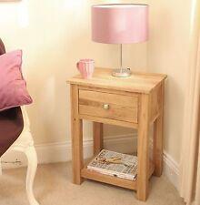 Mobel lamp table side end cabinet solid oak living room furniture