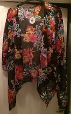 BNWT Ladies Size 12 APRICOT Black Floral Kimono / Jacket / Shrug Rrp £20