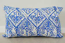 Blue Aztec Cushion Cover Throw Pillow Case Home Decor 100% Cotton 30x50cm Kibui