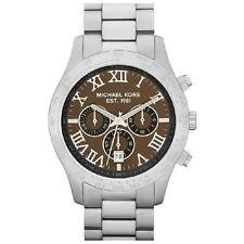 Michael Kors Uhr MK8213 Herren Chronograph Edelstahl Silber Armbanduhr Datum NEU