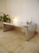 Retro Aviator Style,Vintage Metal Riveted Coffee Table