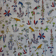 1m x 1.37m Liberty Prints Lawn 'Theo' Cotton Dress Crafts Fabric Red Yellow Blue