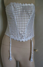 TO CLEAR LEJABY  White Basque BNWOT Size 4 Large