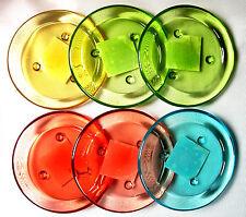 6 Kerzenteller Kerzenhalter Teller Glas Kerzen Stumpen Teelichter Sonderposten