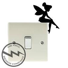 Fairy Sitting Switch Vinyl Decal Sticker Child Room Lightswitch Wall