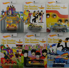 The Beatles yellow submarine Set of 6 cars 1:64 Hot Wheels USA DML69-12