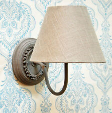 Spa vintage style oval grey wall light with grey shade
