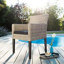 Kettler Bretagne Geflechtsessel mit Kissen Sessel Gartenstuhl White Gartenmöbel
