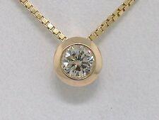 Diamant Brillant Anhänger 585 Gelbgold 14Kt Gold Gleiter Brillant 0,20ct Solitär