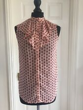 Jane Norman ladies floral blouse top with waterfall neck size uk 8 RRP £30 BNWT