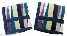MISSONI HOME BRANDED PACK  ROMY 170 TWO HAND TOWELS SET 100% COTTON VELOUR