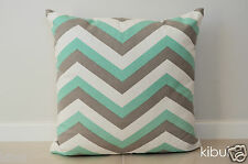 Trendy Chevron ZigZag Home Decor Cushion Cover Pillow Case Light Grey/Green NEW