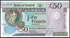 1995 BANK OF IRELAND £50 BANKNOTE * A 1115140 * aUNC *