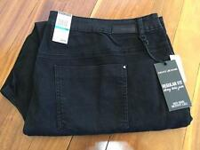 Free Post Womens NWT DKNY Black Stretch Skinny Leg Jeans Size 28W Plus