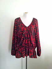 Classic Style! Michael Kors (NY) size 3X red & black top in excellent condition