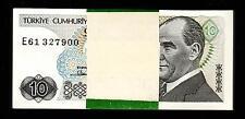 TURKEY 10 LIRA 1970 (1982) BUNDLE UNC PACK OF 100 PCS P 193