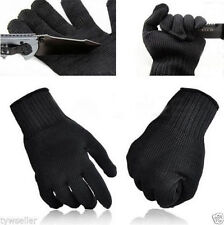 1Pair Black Stainless Steel Wire Safety Works Anti-Slash Cut Resistance Glove IT