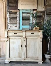 Vintage French solid Pine cabinet / cupboard / sideboard