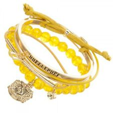 HARRY POTTER HUFFLEPUFF ARM CANDY PARTY CHARM BRACELET SET ROPE METAL CORD LOGO