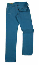Mens HOLLISTER Skinny Jeans Size Waist 30 Leg 32 Distressed Pale Blue