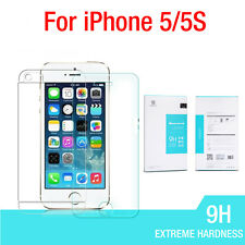 Nillkin 9H Tempered Glass Front Screen + Clear Back Protectors For iPhone 5 5S