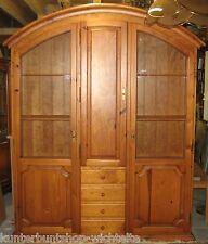 Wunderschöner Holz Vitrineschrank Schrank Vitrine Wohnzimmer (HxBxT)225x180x42cm