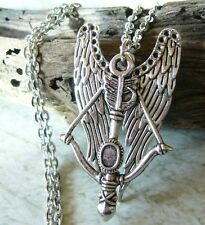 The Walking Dead Daryl Dixon Inspired Angel wings Crossbow Pendant Necklace