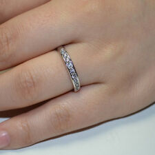 New & Fashion Women White Gold Plated Crystal Bridal Engagement Ring Gift