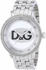 D&G Dolce & Gabbana Unisex Prime Time Stainless Steel Silver Dial Watch DW0131