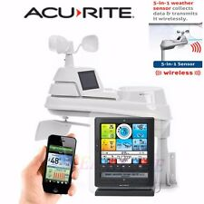 Acurite Wireless Professional Weather Station 5-in-1 Sensor LCD Monitor PhoneApp