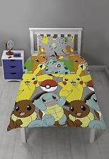 OFFICIAL Pokemon GO Catch Kids Reversible Duvet Quilt Cover Single Bed