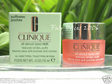 ✹✹   Clinique  15 ml  All   About    Eyes RICH  ✹✹   OVP