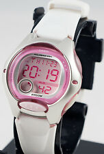 Casio LW-200-7AV Ladies White Pink Digital Watch LED Light Sports with Brand New