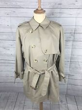 "Mens Burberry Raincoat/Mac - Xl 48"" - Bespoke Short - Beige - Great Condition"