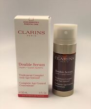 NEW BOXED CLARINS 'DOUBLE SERUM' COMPLETE AGE CONTROL CONCENTRATE, 1 OZ