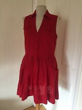 Warehouse Red Cotton Sundress 12
