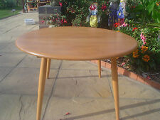 Vintage 1960's Ercol Round Coffee Occasional Table Elm Mid Century