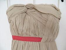 Mango Kleid 38 S (Eur L/ Dt M) 30% Seide 70% Bw Beige Nude Lachs Colour Blocking
