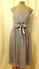 Grey Floaty Chiffon Silver Sequin Marilyn Monroe Vintage 50s Xmas Party Dress