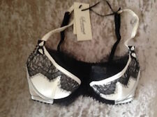 Somerset by ALICE TEMPERLEY Cream LACE ALICE BALCONY BRA 32B Silk Mix NEW