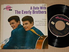 "THE EVERLY BROTHERS -A Date With- 7"" EP 45  Heliodor"