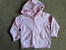 BNWT NEXT Pink Frilly Hem Zip Up Hooded Top Hoody Cardigan 18-24 Months