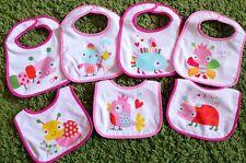 7tlg Set Baby Lätzchen Spucktuch Halstuch Tiere wasserdicht mit Klettverschuss