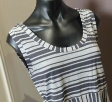 METALICUS Top Grey Stripe One Size Yoga Casual As New Lovely