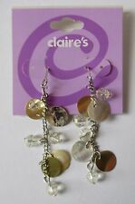 5CD Dangle shell and bead Natural EARRINGS claire's jewelry