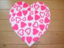 Cute Girls Hot Pink Love Hearts Small Size Rugs Fluffy Bedroom Floor Mats Cheap