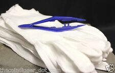 12 Pair Cotton Inspection Gloves LIGHT DUTY Coin Stamps Silver LRG + TWEEZERS